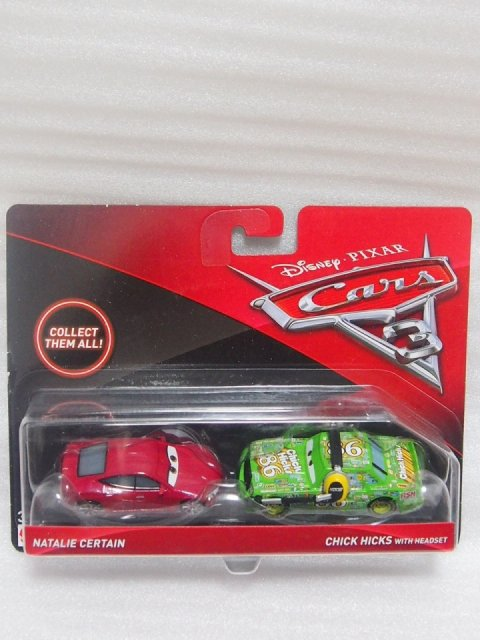 NATALIE CERTAIN AND CHICK HICKS WITH HEADSET 2pack版 CARS3