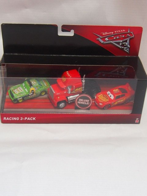 訳有特価】CARS3  RACING 3-PACK MACK LIGHTNING MCQUEEN CHICKHICKS WITH HEADSET