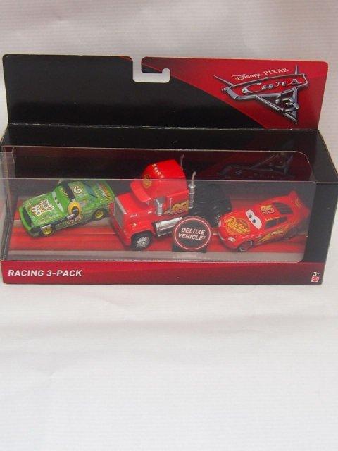 訳有特価】CARS3  RACING 3-PACK MACK LIGHTNING MCQUEEN CHICKHICKS WITH HEADSET