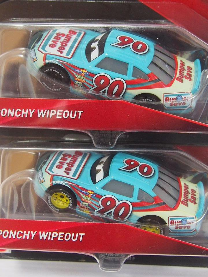 PONCHY WIPEOUT NO.90 BUMPER SAVE (YELLOW RIM) CARS3版