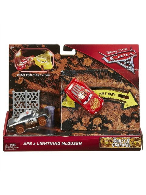 CARS3 CRAZY 8 APB and LIGHTNING MCQUEEN 2pack