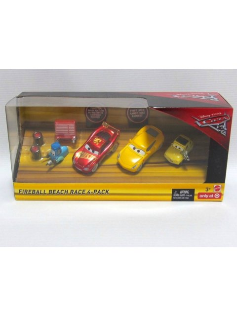 訳有特価】CARS3 FIREBALL BEACH RACE 4-PACK TARGET限定4台セット