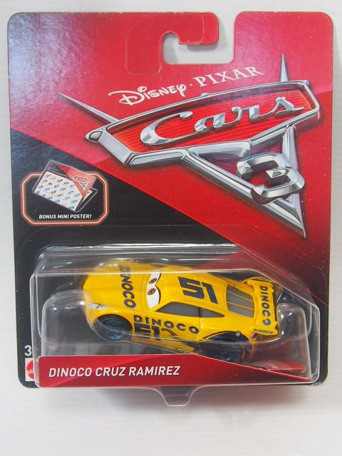 DINOCO CRUZ RAMIREZ NO.51 WITH ミニポスター