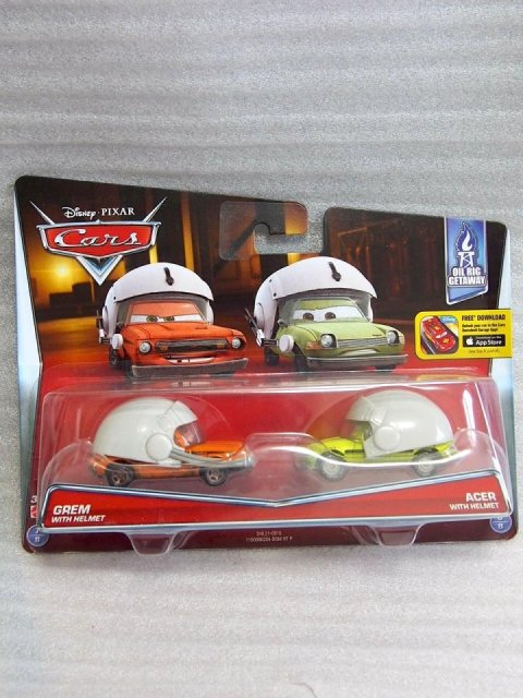 少し台紙痛み特価】GREM WITH HELMET AND ACER WITH HELMET 2PACK 2016*