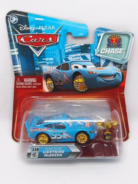 BLING BLING LIGHTNING McQUEEN with PISTON CUP GOLDEN WHEELS CHASE NS版