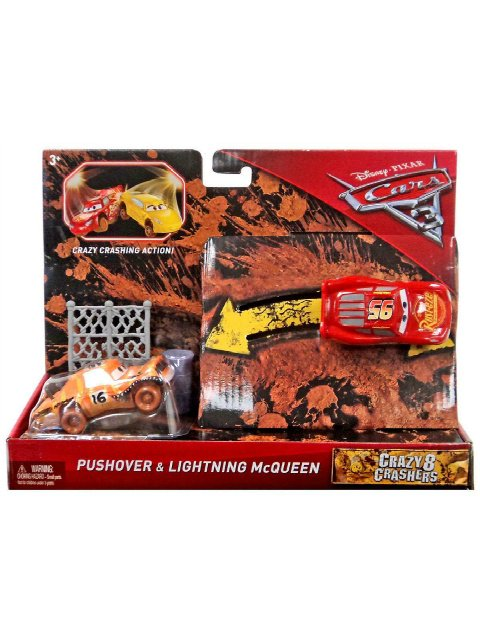 CARS3 CRAZY 8 PUSHOVER and LIGHTNING MCQUEEN 2pack
