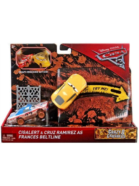 CARS3 CRAZY 8 CIGALERT and CRUZ RAMIREZ as FRANCES BELT LINE 2pack