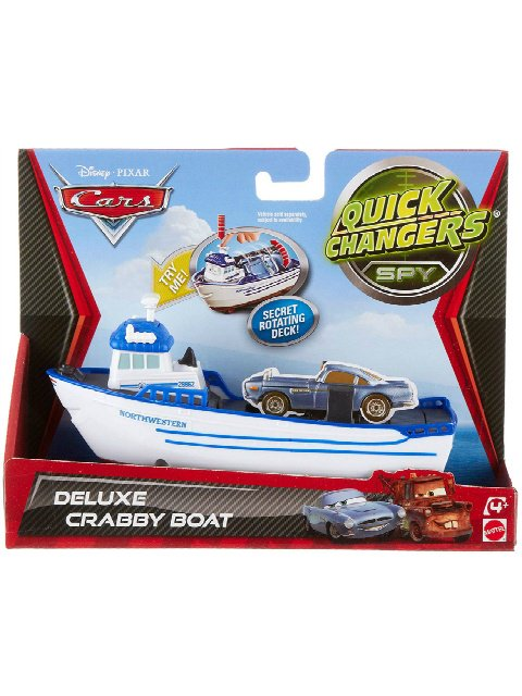 DELUXE CRABBY TRANS FORMING BOAT QUICK CHANGERS SPY