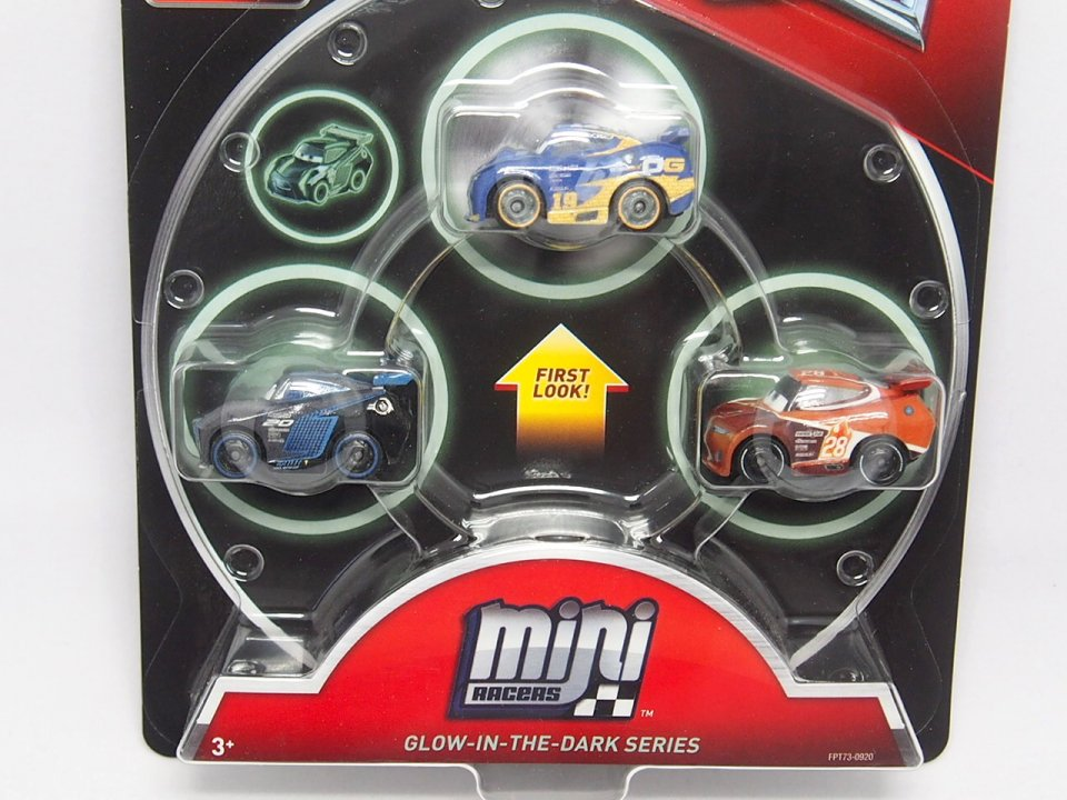 MINI RACERS GLOW IN THE DARK RACERS SERIES 3-PACK GLOWダニー/ジャクソンS/ティム 蓄光版