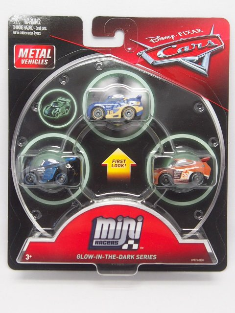 MINI RACERS GLOW IN THE DARK RACERS SERIES 3-PACK GLOWダニー/ジャクソンS/ティム 蓄光版