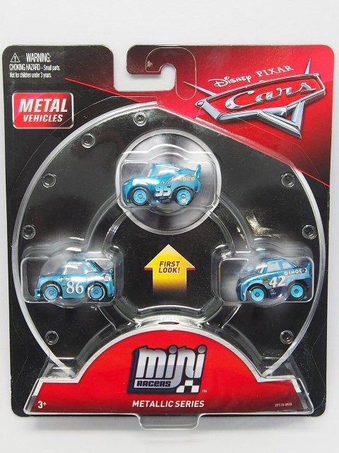 MINI RACERS BLUE METALLIC SERIES 3-PACK ダイナコマックイーン/ダイナコチック/キャルウェザース 青メタリック