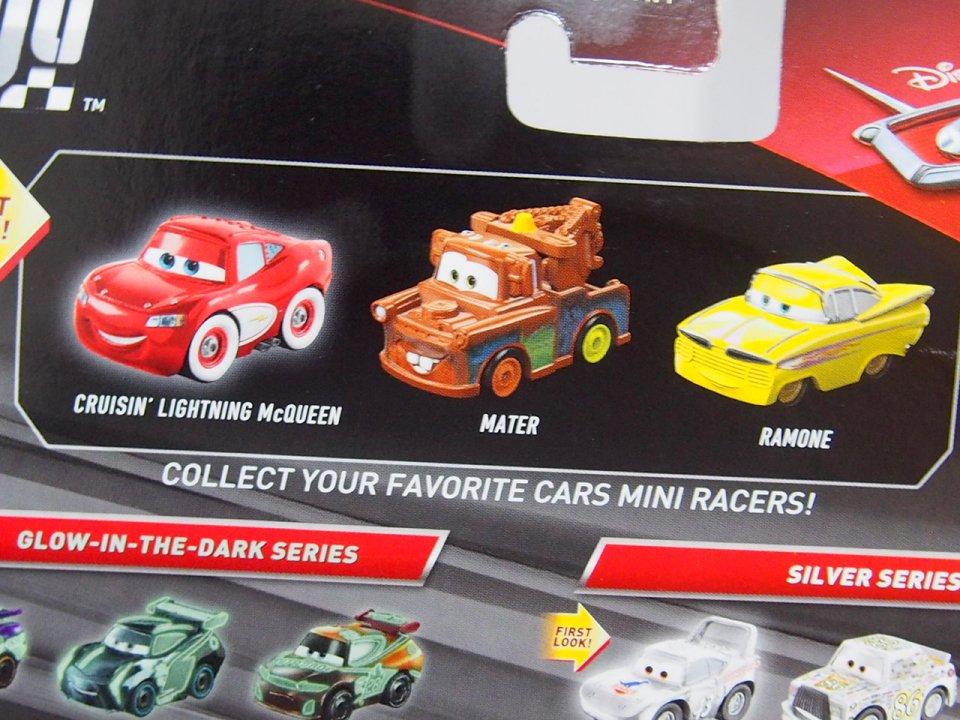 MINI RACERS RADIATOR SPRINGS SERIES 3-PACK クルージンLMQ/メーター/ラモーン(黄色)
