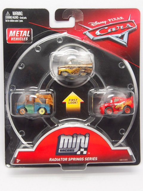 MINI RACERS RADIATOR SPRINGS SERIES 3-PACK 2019 ゴールドラモーン/ライトニングマックイーン/メーター