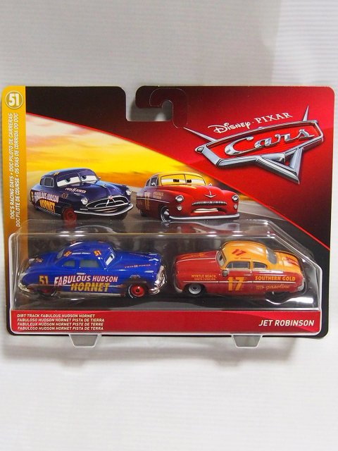DIRT TRACK FABULOUS HUDSON HORNET and JET TOBINSON 2-PACK 2019