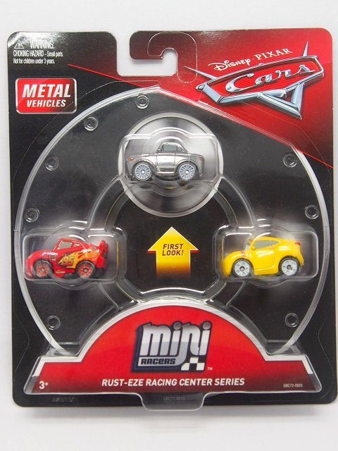 MINI RACERS RUST-EZE RACHING CENTER SERIES 3-PACK メタリック スターリング/マックイーン/クルース