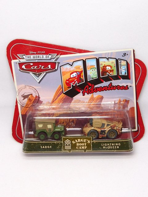 訳有特価】MINI ADVENTURE】SARGE's BOOT CAMP| SARGE and LIGHTNING McQUEEN