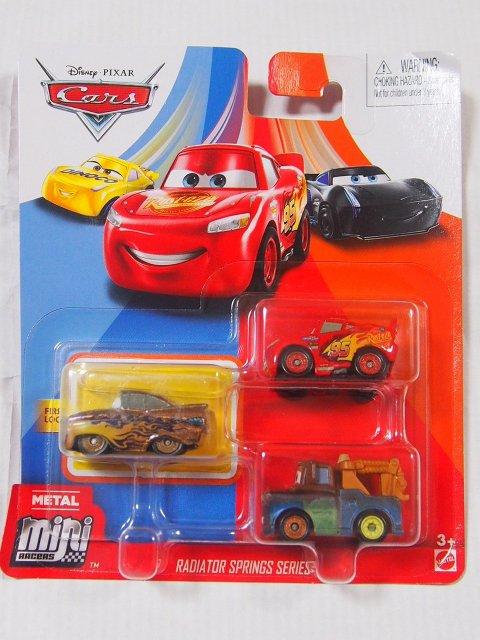 MINI RACERS 3-PACK 2020 ゴールドラモーン/ライトニングマックイーン/メーター