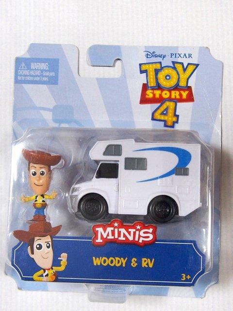 Toy Story 4  マテル MINI's 2019 Woody and RV ミニフィギア+ダイキャストカー