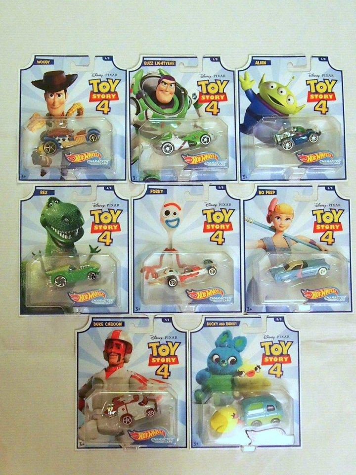 ご予約販売品】Toy Story 4 x Hot Wheels! コラボダイキャストカー 8種類 コンプリートセット
