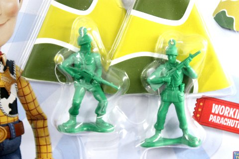 Toy Story 4 GREEN ARMY MAN With PARACHUTES 送料180円