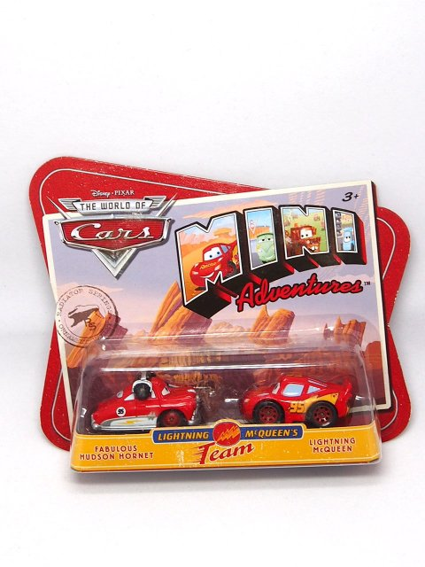 訳有特価】【MINI ADVENTURE】TEAM LM | FABULOUS HODSON HORNET AND LIGHTNING MCQUEEN |