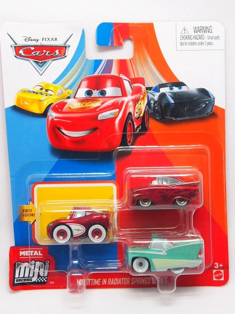 Mini Racers 2020 ナイトタイム in ラジエタースプリングス SERIES 3-pack (クルージンLMQ/赤メタ ラモーン/フロー
