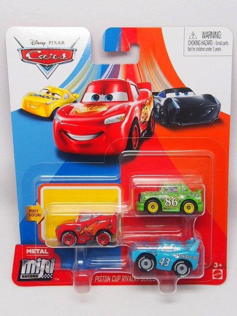 <img class='new_mark_img1' src='https://img.shop-pro.jp/img/new/icons1.gif' style='border:none;display:inline;margin:0px;padding:0px;width:auto;' />Mini Racers 2020 ピストンカップ ライバリー SERIES 3-pack (CARS1 NEWマックイーン/チック/キング