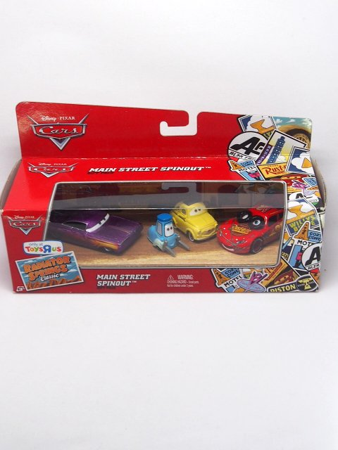MAIN STREET SPINOUT GIFT PACK SPINOUT LIGHTNING McQEEN RSC Classic Toysrus