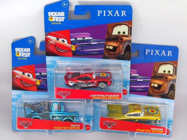 パッケージ訳あり特価】PIXAR FEST EDITION 2020 メタリック 3台セット(メーター、マックイーン、ラモーン)