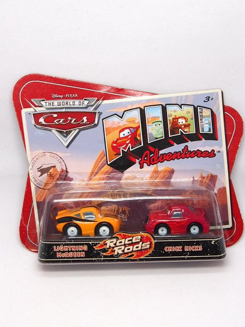 訳有特価】【ミニアドベンチャーズ】RACE RODS |LIGHTNING McQUEEN and CHICK HICKS