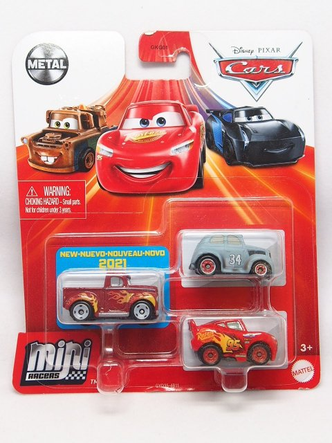 MINI RACERS 3-PACK 2021 コッターピン SERIES (ホットロッドスモーキー/リバースコット/LMQ
