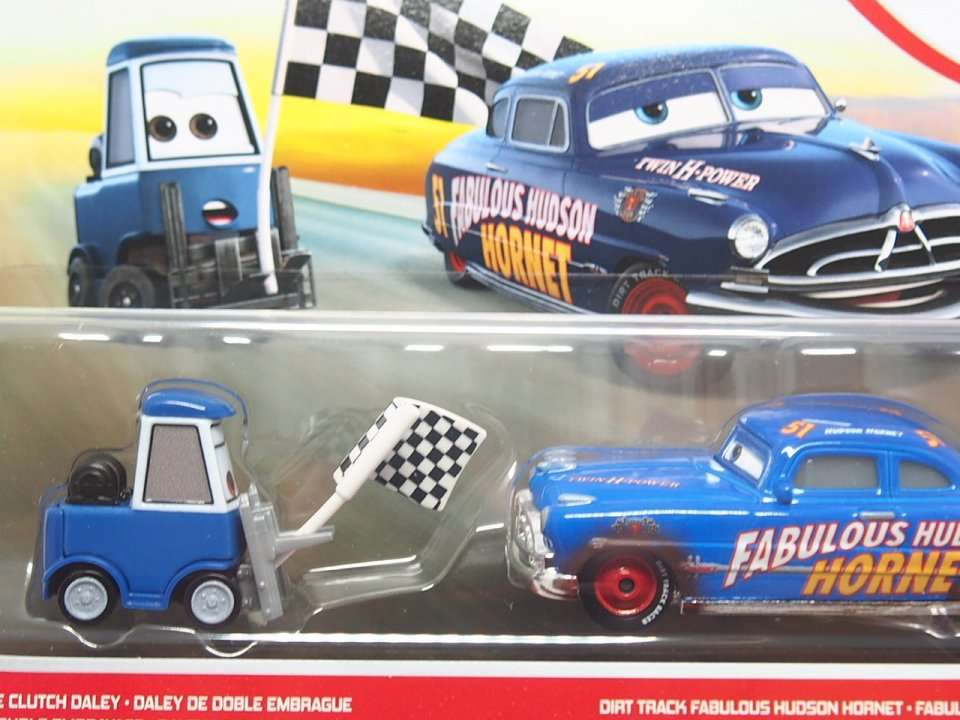 DOUBLE CLUTCH DALEY and DIRT TRACK FABULOUS HUDSON HORNET 2-PACK 2021