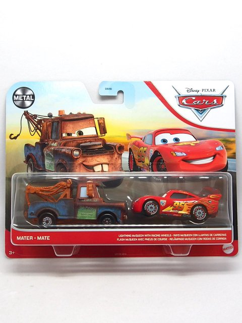 MATER and LIGHTNING McQUEEN with RACING WHEELS (WGP) 2-PACK 2021