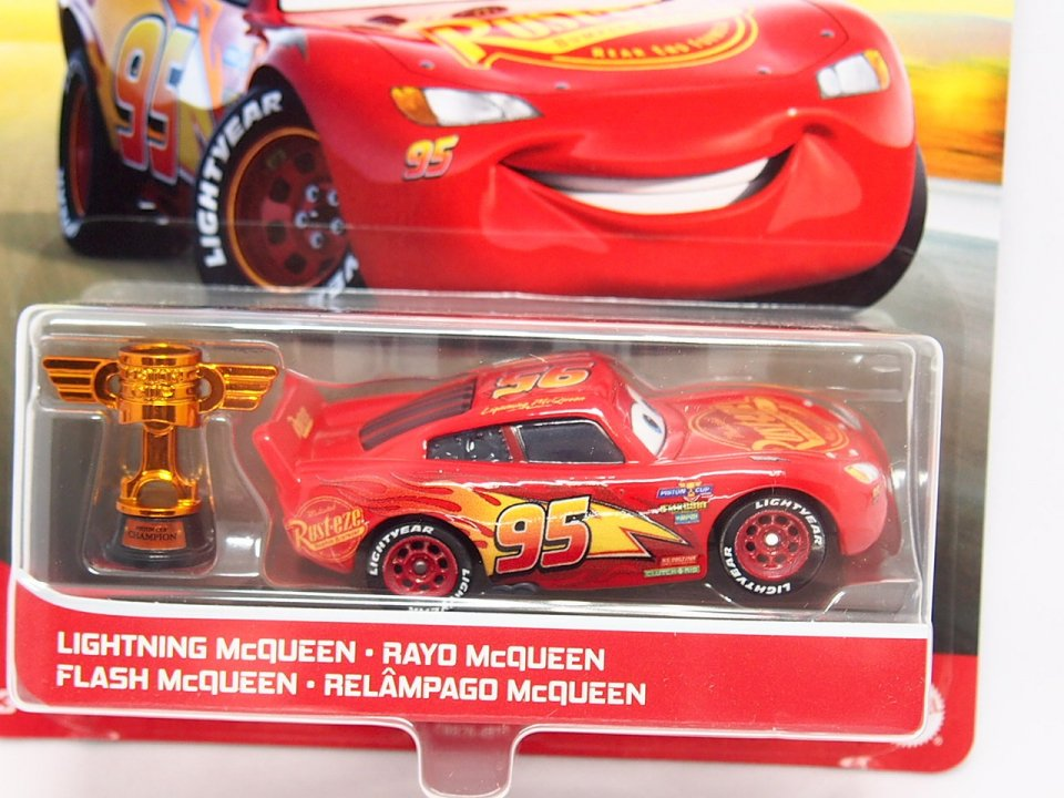 LIGHTNING McQUEEN (CARS3) with PISTON CUP TROPHY 2021