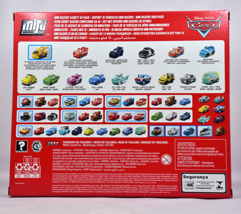 MINI RACERS VARIETY 15-PACK 2021 [TARGET限定] (FUNNY CAR MATER / PIZZA PLANET TRUCK TODD)