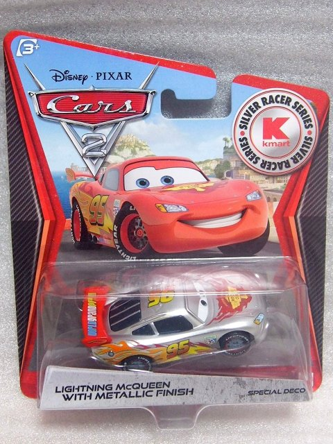 LIGHTNING MCQUEEN (WGPバージョン) SILVER METALLIC RACER K-MART DAY限定 PC版 #8