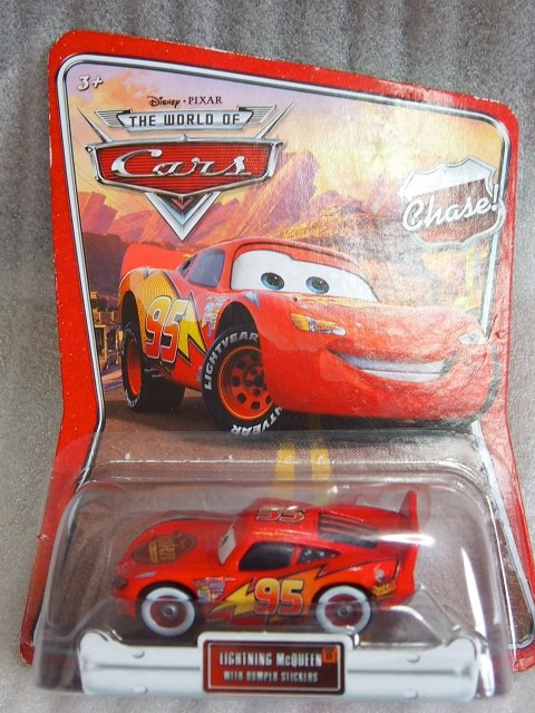 LIGHTNING McQUEEN With BUMPER STICKERS CHASE版 WOC版