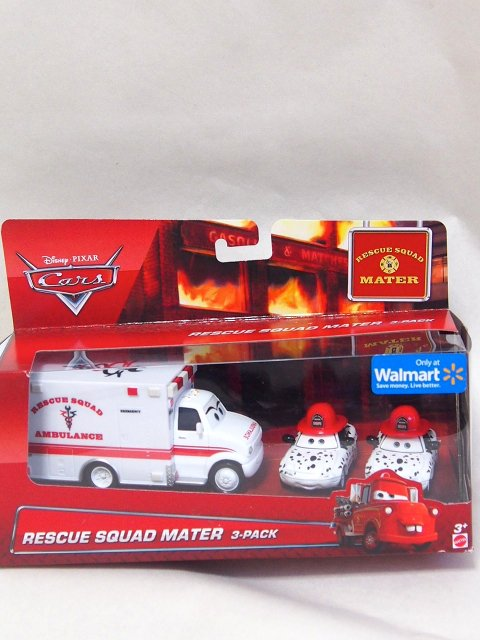 訳有特価】RESCUE SQUAD MATER AMBULANCE 3 PACKonly at WALMART