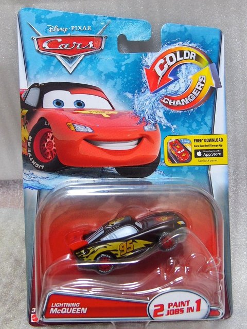 COLOR CHANGER LIGHTNING MCQUEEN BLACK/RED