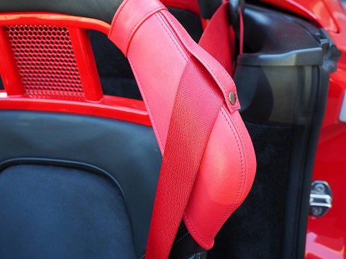 ポルシェスポーツバケットシート用プロテクターサイドカバー(ショルダー)(赤)