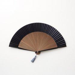 京扇子、袋セット 黒