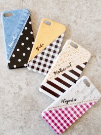 Smartphone case(dot , gingham check , border)