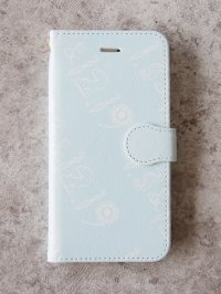 Smartphone synthetic leather case(ice blue)