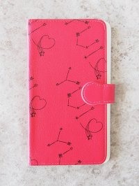 Smartphone synthetic leather case(red)
