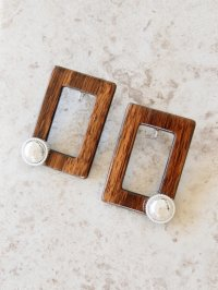 original earring  vintage wood