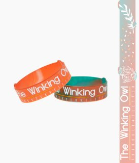 [ The Winking Owl ] Thanks Rubber Bracelet