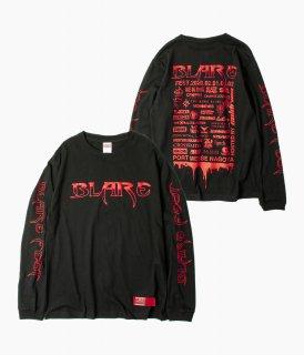 "受付終了【 受注生産商品 】[BF2020] BLARE ""BLOOD"" Long sleeve(ロンT-H)【 3月中旬以降発送予定 】"