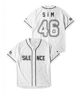 [SiM] BASEBALL SHiRT(WHITE)