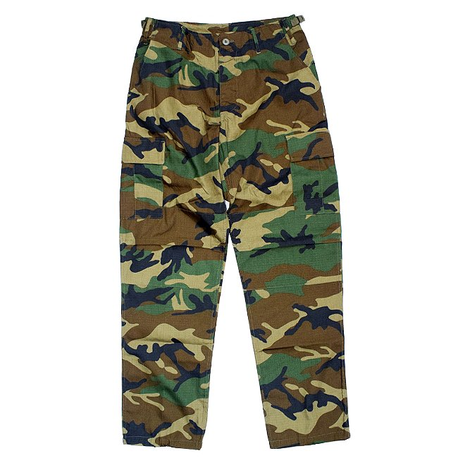 <img class='new_mark_img1' src='https://img.shop-pro.jp/img/new/icons55.gif' style='border:none;display:inline;margin:0px;padding:0px;width:auto;' />US MILITARY B.D.U PANTS / WOODLAND CAMO (カーゴパンツ)