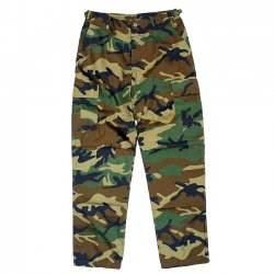 <img class='new_mark_img1' src='//img.shop-pro.jp/img/new/icons55.gif' style='border:none;display:inline;margin:0px;padding:0px;width:auto;' />US MILITARY B.D.U PANTS / WOODLAND CAMO (カーゴパンツ)
